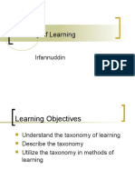Taxonomy of Learning