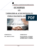 Capstone(m&a IN BANKS IN INDIA)