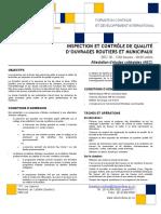 Inspection Et Controle de Qualite Ouvrages Routiers Et Municipaux Version 2011