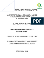 Sistema Financiero Nacional e Internacional