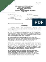 Complaint Sample