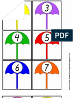 Spring Showers Dice Addition Math Game