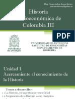 Cronograma Historia Socioeconómica de Colombia III