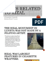 Facts Related to Rizal