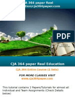 CJA 364 Paper Real Education-cja364paper.com