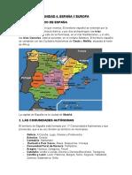 Unit 4. España y Europa