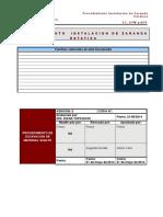 GYM_pr019_Instalación de Zaranda Estática