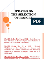 Updated Guidelines of Selection of Honors