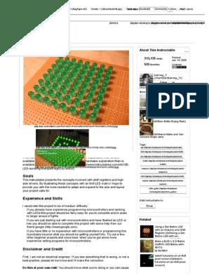Instructables LED Matrix Using Shift Registers   Electrical