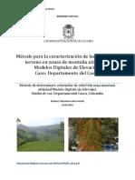 Método Para La Caracterización de Las Formas Del Terreno en Zonas de Montaña Utilizando Modelos Digitales de Elevación