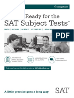 Getting Ready for the Sat Subject Tests 2015 16
