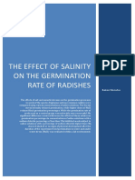 Salinity and It's Effect on the Germination Rates of Radishes- Ranier Knowles