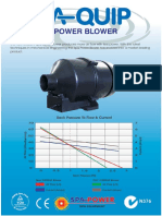 SP Blower Promo Sheet