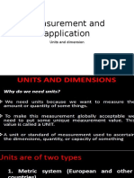 Measurement and Application