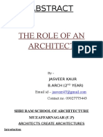 NCTA - The Role of an Architect