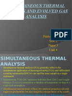 Thermal Analysis and Evolved Gas Analysis