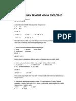 Soal Ujian Tryout Kimia 2009-2010