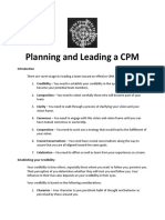Planning and Leading a CPM (Baylon)