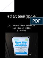 Friday lunchtime lecture - Being a Data Magpie