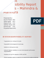 Business Responsibility Report Analysis – Mahindra & Mahindra