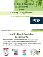 Healthy Blood Circulation Supplements From Country Living Limited
