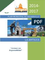 Plano Municipal Desarrollo La Antigua Guatemala 2014-2017