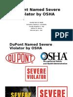 Ethics Report - DuPont Named Severe Violator by OSHA