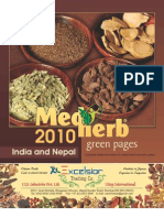 Medherb Green Pages 2010 - India and Nepal