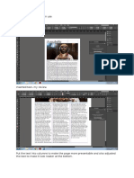 screenshots of in design use