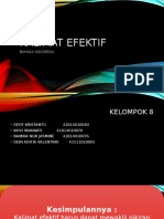 Bahasa Indonesia - Kalimat Efektif