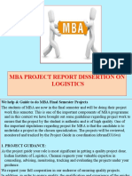 3.Mba Project Report Dissertion on Logistics