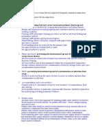 B.sanitation & Fumigation - Inspection - Answers