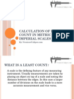 Calculation of Least Count in Metric & Imperial