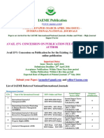 CALL FOR PAPER (MARCH-APRIL 2016 ISSUE) – INTERNATIONAL/NATIONAL JOURNALS