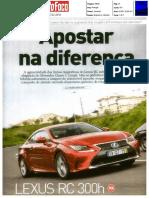 "Mercedes-Benz C 220 d Coupé versus o Lexus RC 300h na revista ""Auto Foco"""