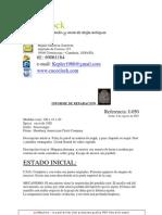 Informe de reparación reloj R-050