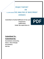 Comparative Analysis of Investment Avenues