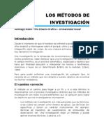 Los Metodos de Investigacion