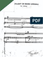 Taffetas Piano Conductor Score