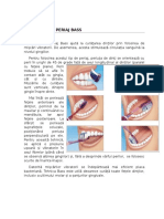 Tehnicile de Periaj Dentar