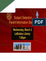 Parent Presentation 2016