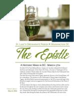 Epistle March 2016