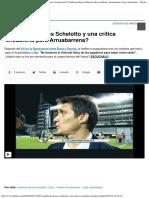 ¿Guillermo Barros Schelotto y Una Crítica Encubierta Para Arruabarrena Guiller