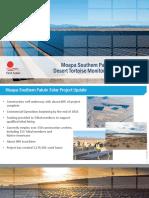 Moapa Solar Tortoise Impact Report - December 2015