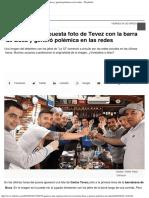 Apareció Una Supuesta Foto de Tevez Con La Barra de Boca y Generó Polémica en l