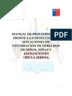 Manual de Procedimientos Casos de Vulneracion de Derechos Opd La Serena Educación
