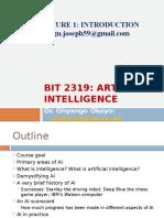 BIT 2319 Lecture 1 Intro 2