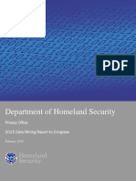 2015 Department of Homeland Security (DHS) Data Mining Report