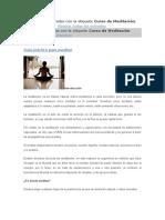 Curso de Meditación Guia Practica