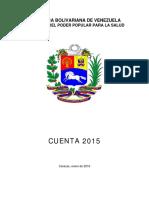 Cuenta del Ministerio de Salud 2015